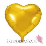 Balony foliowe na wesele Balon foliowy SERCE złote 45cm