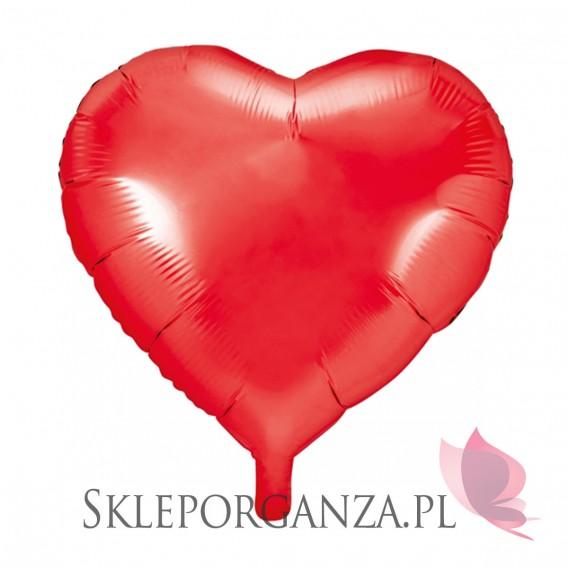 Balony foliowe Balon foliowy SERCE czerwone 45cm