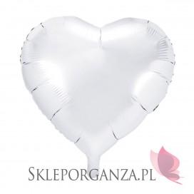 Balon foliowy SERCE białe 45cm