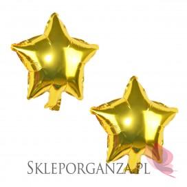 Balon foliowy GWIAZDKA złota 25cm, 2szt.