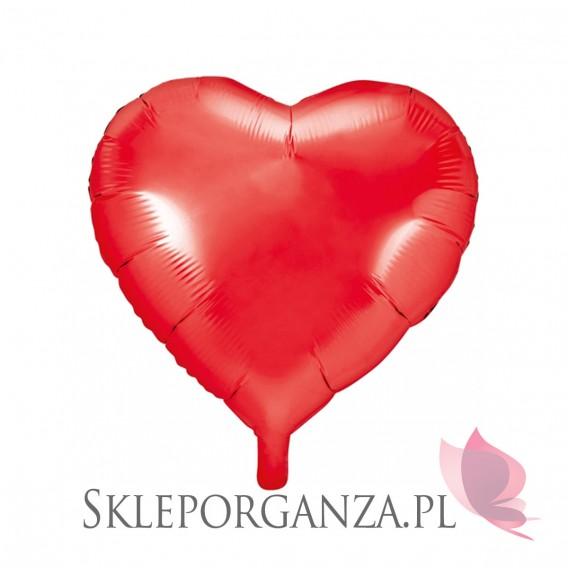 Balony foliowe na wesele Balon foliowy SERCE czerwone 36cm