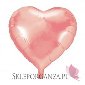 Balony foliowe na wesele Balon foliowy SERCE rose gold 45cm