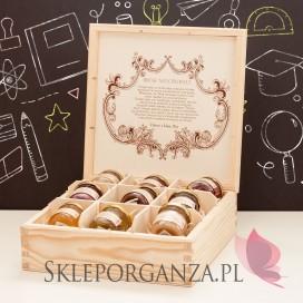 Zestaw miodów w szkatułce - duży - personalizacja Dzień Nauczyciela