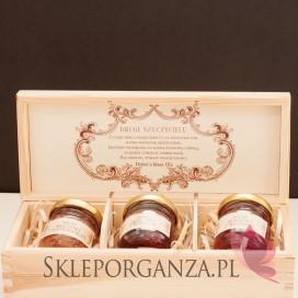 Zestawy prezentowe z miodami dla Nauczycieli Zestaw miodów w szkatułce - mały - personalizacja Dzień Nauczyciela