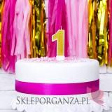 Fontanny i świeczki Świeczka urodzinowa Cyferka 1, złota