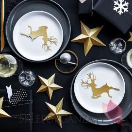 Konfetti świąteczne - Zawieszki Rudolf, złote