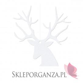 Kolekcja Święta Skandynawskie - Zawieszki Rudolf, białe