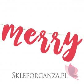 Banner Merry Xmas, czerwony