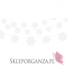 Papierowe dekoracje wiszące na Święta - Girlanda perłowe ŚNIEŻYNKI 1