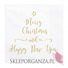 Kolekcja Merry Xmas -Serwetki Merry Christmas and Happy New Year