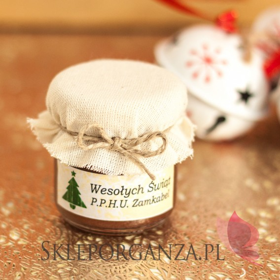 Świąteczny miód z kakao - personalizacja z dekoracją wieczka