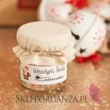 Świąteczny miód z lawendą - personalizacja z dekoracją wieczka