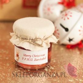 Świąteczny miód z malinami - personalizacja z dekoracją wieczka