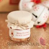 Świąteczny miód z płatkami róży - personalizacja z dekoracją wieczka
