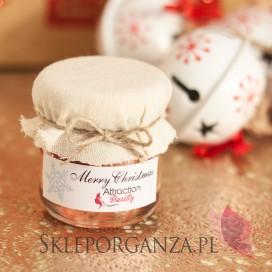 Świąteczny miód z wiśniami - personalizacja z dekoracją wieczka