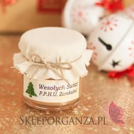 Świąteczny miód z cynamonem - personalizacja z dekoracją wieczka