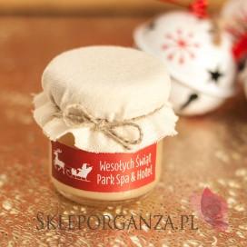 Świąteczny miód z imbirem - personalizacja z dekoracją wieczka
