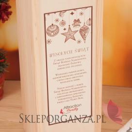 Skrzynki świąteczne na wino z LOGO Drewniana skrzynka na alkohol - świąteczna personalizacja