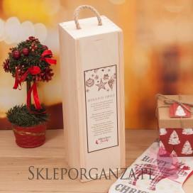 Drewniana skrzynka na alkohol - świąteczna personalizacja