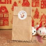 Opakowania do upominków świątecznych Torebka brązowa - świąteczna personalizacja