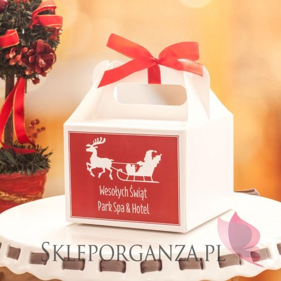 Upominki Pudełko na ciasto MAŁE - PERSONALIZACJA ŚWIĄTECZNA