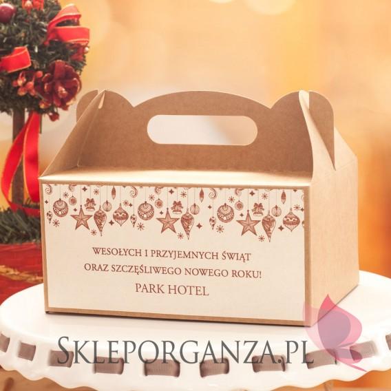 Upominki Pudełko na ciasto eko - personalizacja ŚWIĄTECZNA
