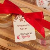 Upominki Świąteczny zestaw upominkowy miód - wstążka