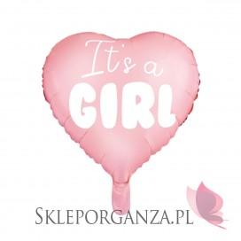 Balony Balon foliowy Serce - It's a girl, 45cm
