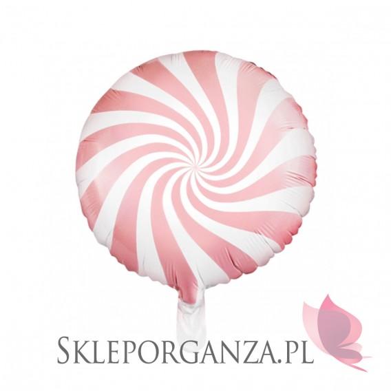 Balon foliowy Cukierek, 45cm, jasnoróżowy