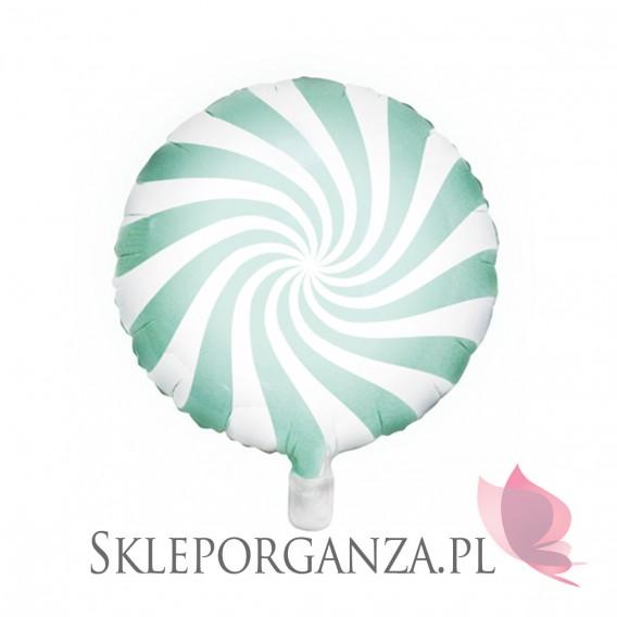 Pastele Balon foliowy Cukierek, 45cm, miętowy