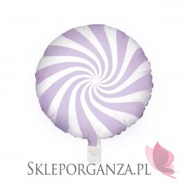 Fioletowy Balon foliowy Cukierek, 45cm, jasnoliliowy
