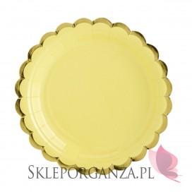 Żółty Talerzyki, j. żółte, 18 cm (1 op. / 6 szt.)