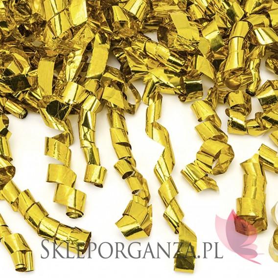 Złoty MEGA Tuba z serpentynami, złota, 60cm