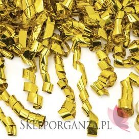 Tuba z serpentynami, złota, 60cm