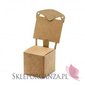 Brązowy Pudełko krzesełko, kraft, 10szt.