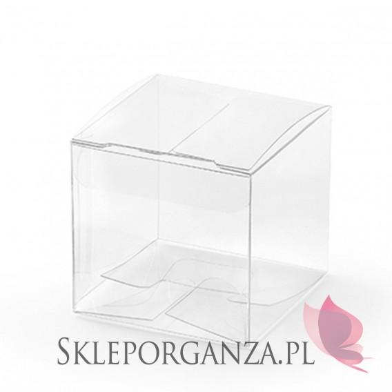 Pudełka Pudełeczka kwadratowe, transparentne, 10szt.