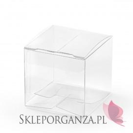 Pudełeczka kwadratowe, transparentne, 10szt.