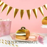 Złoty Pudełeczka torebka, złote, 10szt.