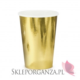 Kubeczki metaliczne złote, 220ml, 6 szt.