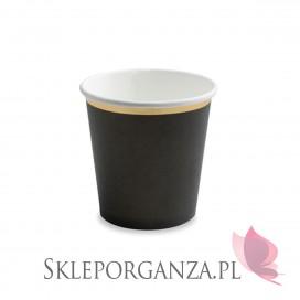 Czarny Kubeczki czarne, 100 ml, (złote brzegi), 6szt.