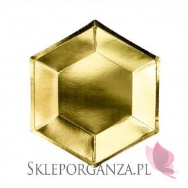 Kolekcja Bride to be Talerzyki złote sześciokątne, 6szt.
