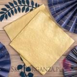 Serwetki trójwarstwowe, złote metalizowane, 40x40cm