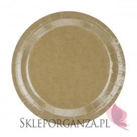 Rustykalny Talerzyki papierowe, kraft, 23 cm, 6 szt.