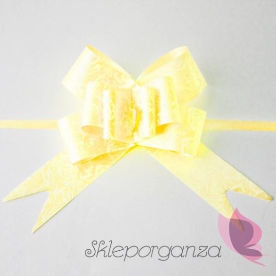 Ozdoby na klamki Kokarda ściągana żółta