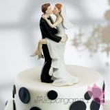 Porcelanowa figurka na tort - Całująca się Para