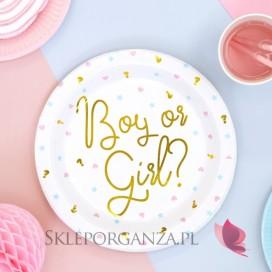 Kolekcja Boy or Girl Talerzyki białe KOLEKCJA Boy or Girl