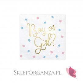 Kolekcja Boy or Girl Serwetki białe KOLEKCJA Boy or Girl