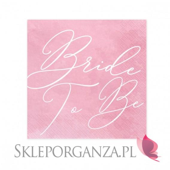 Kolekcja Bride to be Serwetki KOLEKCJA Bride to be różowe