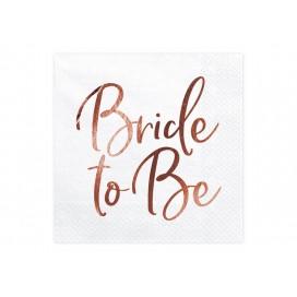 Kolekcja Bride to be na Wieczór Panieński Serwetki KOLEKCJA Bride to Be białe