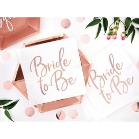 Serwetki KOLEKCJA Bride to Be białe